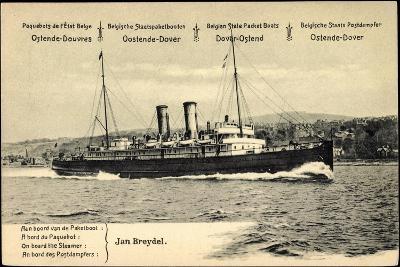 Ganzsachen Ostende, Vue Du Paquebot Jan Breydel--Giclee Print