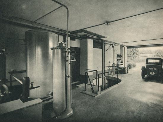 Garage of a Private House at Garches, near Paris-Unknown-Photographic Print