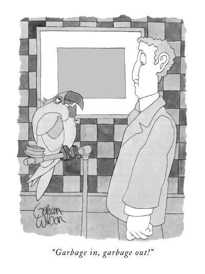 """Garbage in, garbage out!"" - New Yorker Cartoon-Gahan Wilson-Premium Giclee Print"