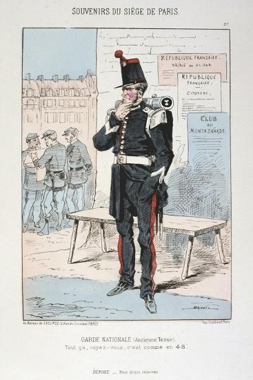 Garde Nationale (Ancien Tenu), Siege of Paris, Franco-Prussian War, 1870-1871--Giclee Print