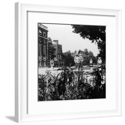 Garden and Part of the East Front, Hampton Court Palace, Richmond Upon Thames, London--Framed Photographic Print