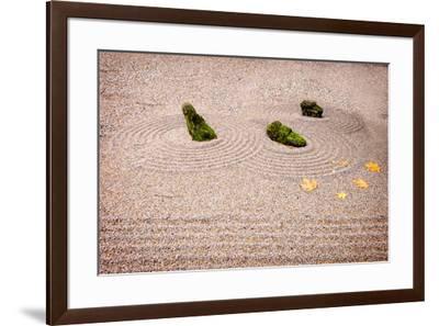 Garden Art. Columbia River Gorge, Oregon, USA.-Tom Norring-Framed Premium Photographic Print