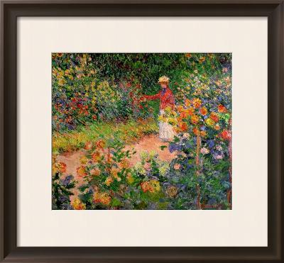 Garden at Giverny, 1895-Claude Monet-Framed Giclee Print