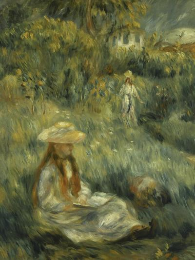 Garden at Mezy: Mlle. Manet-Pierre-Auguste Renoir-Giclee Print