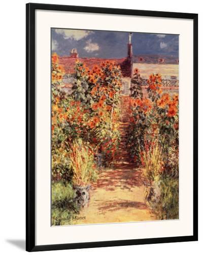 Garden at Vetheuil-Claude Monet-Framed Art Print