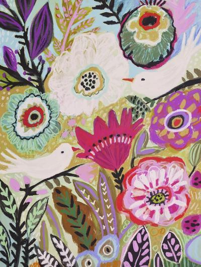 Garden Birds I-Karen  Fields-Art Print