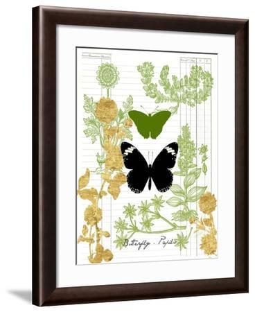 Garden Botanicals & Butterflies-Devon Ross-Framed Art Print