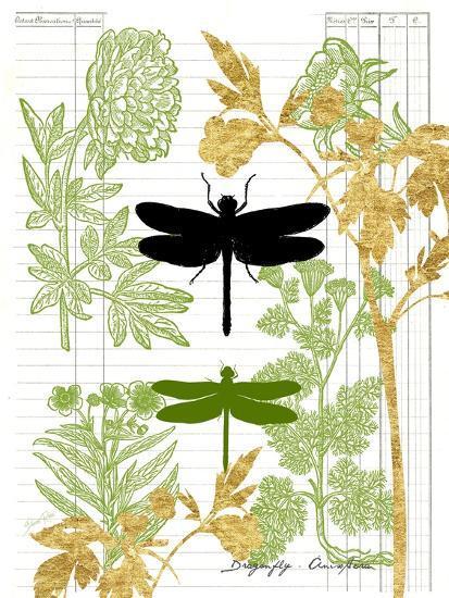 Garden Botanicals & Dragonflies-Devon Ross-Art Print