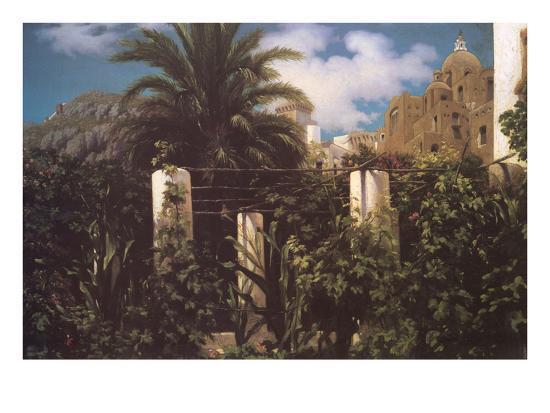 Garden, Capri Italy-Frederick Leighton-Art Print