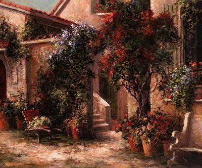 Garden Court-Art Fronckowiak-Art Print
