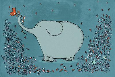 Garden Elephant-Carla Martell-Giclee Print
