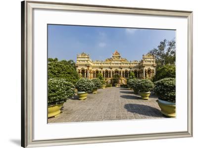 Garden Entrance to the Vinh Trang Pagoda, My Tho, Vietnam, Indochina, Southeast Asia, Asia-Michael Nolan-Framed Photographic Print