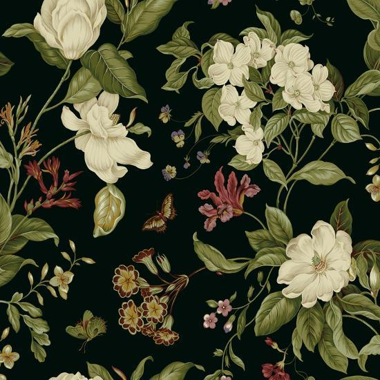 Garden Floral on Black II-Unknown-Art Print