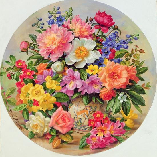 Garden Flowers of July-Albert Williams-Giclee Print