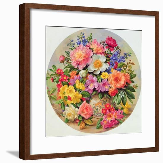 Garden Flowers of July-Albert Williams-Framed Giclee Print