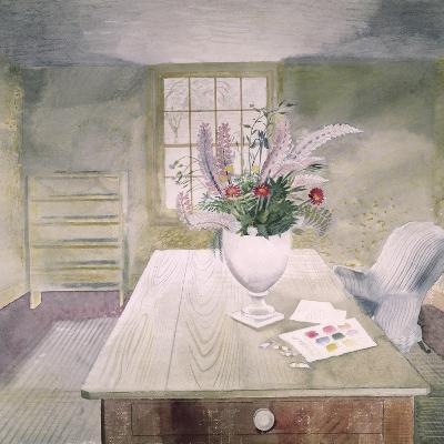 Garden Flowers on a Cottage Table-Eric Ravilious-Giclee Print