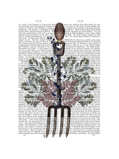 Garden Fork and Berries-Fab Funky-Art Print