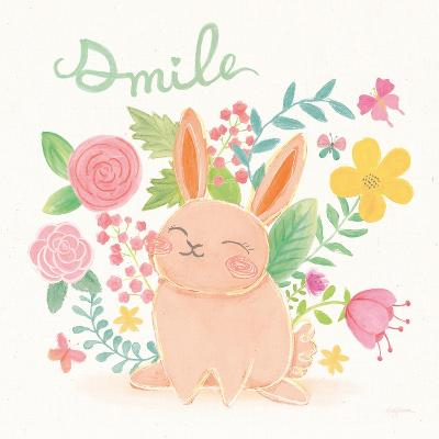 Garden Friends White II Smile-Mary Urban-Art Print