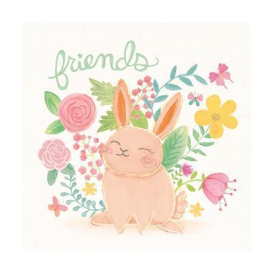 Garden Friends White II-Mary Urban-Art Print