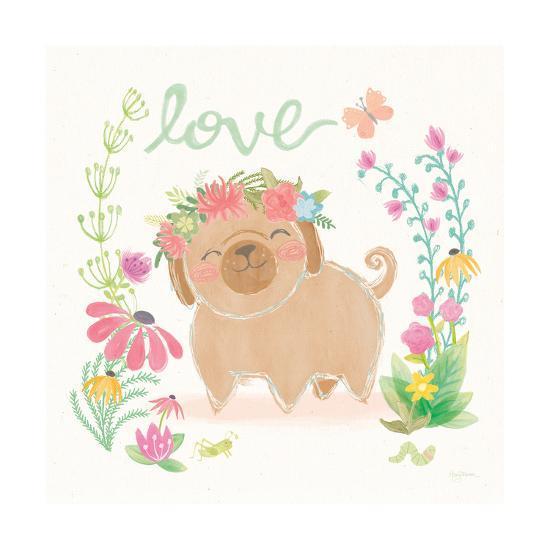 Garden Friends White V Love-Mary Urban-Art Print