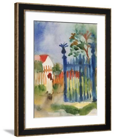Garden Gate, 1914-Auguste Macke-Framed Giclee Print
