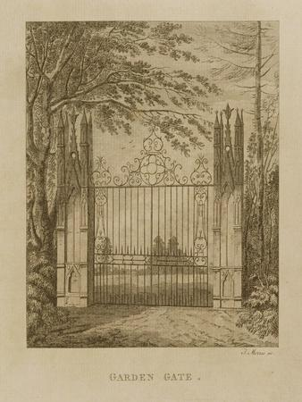Garden Gate at Strawberry Hill-J. Morris-Giclee Print