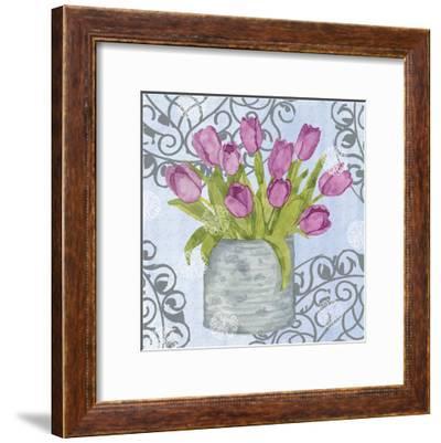 Garden Gate Flowers II-Leslie Mark-Framed Art Print
