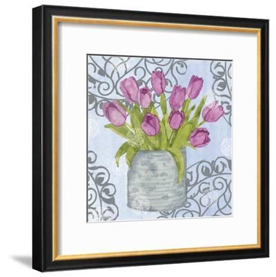 Garden Gate Flowers II-Leslie Mark-Framed Art Print