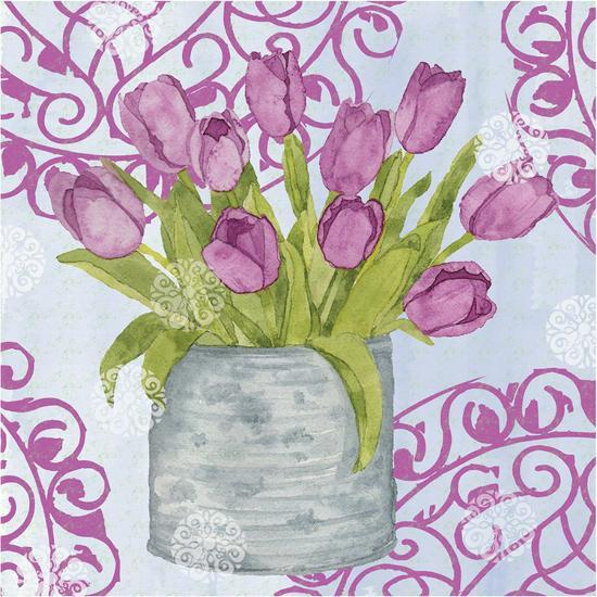Garden Gate Flowers IV-Leslie Mark-Art Print