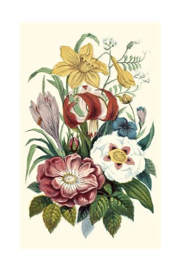 Garden Gathering VII--Art Print