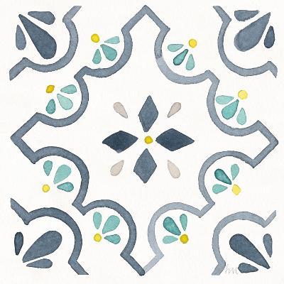 Garden Getaway Tile II White-Laura Marshall-Art Print