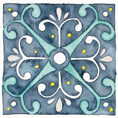 Garden Getaway Tile III Blue-Laura Marshall-Art Print