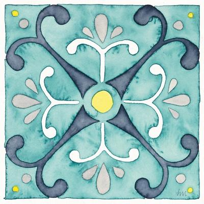 Garden Getaway Tile III Teal-Laura Marshall-Art Print