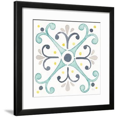 Garden Getaway Tile III White-Laura Marshall-Framed Art Print