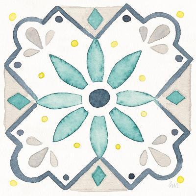 Garden Getaway Tile V White-Laura Marshall-Art Print