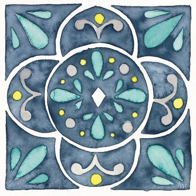 Garden Getaway Tile VII Blue-Laura Marshall-Art Print