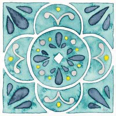 Garden Getaway Tile VII Teal-Laura Marshall-Art Print