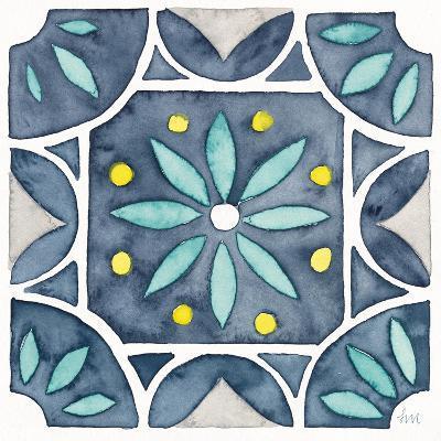 Garden Getaway Tile VIII Blue-Laura Marshall-Art Print
