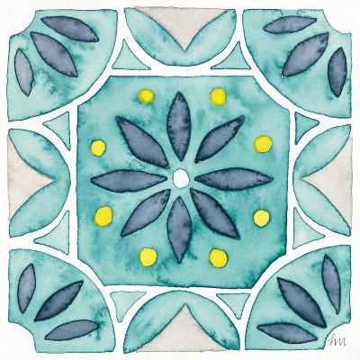 Garden Getaway Tile VIII Teal-Laura Marshall-Art Print