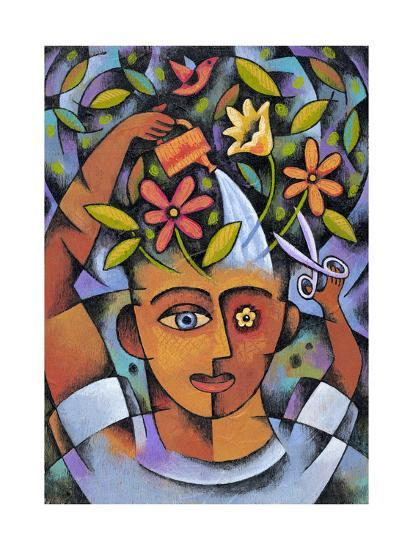 Garden Girl-Jim Dryden-Giclee Print