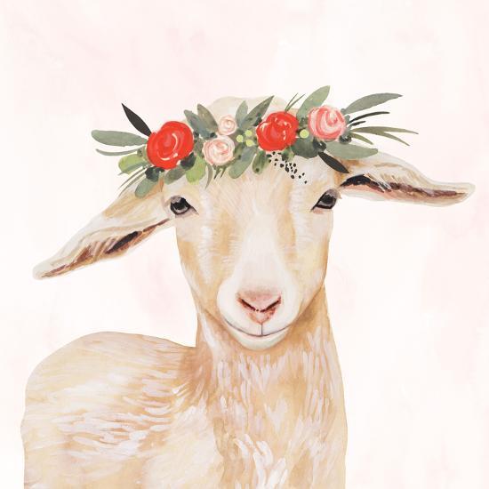 Garden Goat I-Victoria Borges-Premium Giclee Print