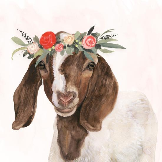 Garden Goat II-Victoria Borges-Premium Giclee Print