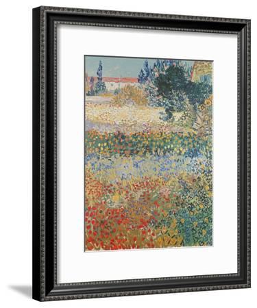 Garden in Bloom Arles, c.1888-Vincent van Gogh-Framed Premium Giclee Print