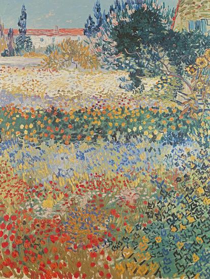 Garden in Bloom, Arles, c.1888-Vincent van Gogh-Giclee Print