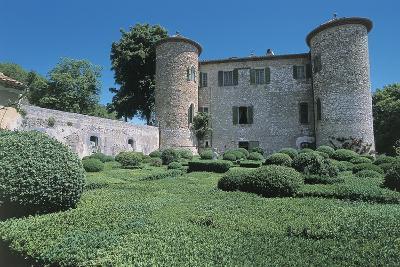 Garden in Front of a Castle, Chateau De Beauregard, Mons, Provence-Alpes-Cote D'Azur, France--Photographic Print