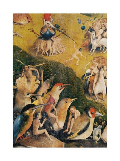 Garden of Earthly Delights,(Martyrs & Angels) by Hieronymus Bosch, c. 1503-04. Prado. Detail.-Hieronymus Bosch-Art Print