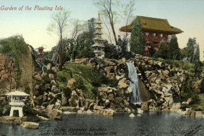 Garden of the Floating Isle in the Japanese Gardens, Japan-British Exhibition, London 1910--Photographic Print