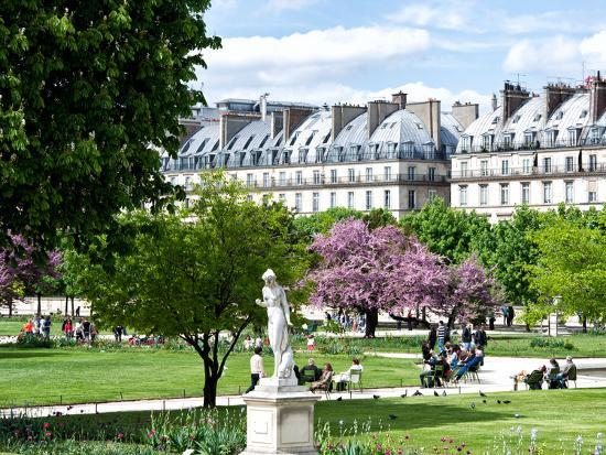 Garden of the Tuileries, the Louvre, Paris, France-Philippe Hugonnard-Photographic Print