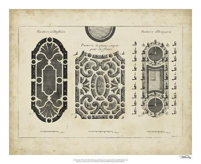 Garden Parterre II-DeZallier d' Argenville-Giclee Print