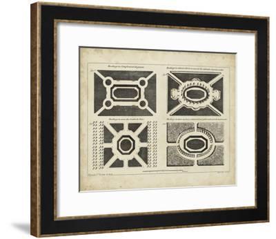 Garden Parterre V-DeZallier d' Argenville-Framed Art Print